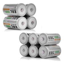 10 Pcs 1.2V 10000mAh D R20 D Size D Cell Ni-Mh Rechargeable Batteries