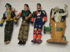 2000s Action Man X 4, Hasbro, Joblot, Bundle, vintage, retro, toys
