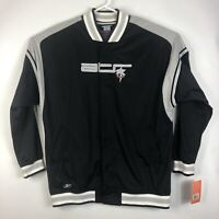NWT Mens 2XL Reebok Above The Rim ATR Full Button Jacket Black Basketball 2003