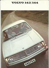 VOLVO 142 AND 144 SALES BROCHURE 1968 1969
