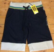 "DRUNKNMUNKY DARK NAVY FLEECE SHORTS SIZE 34"" BNWT"