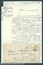 LETTRE PRÉ PHILATELIE 1852 10 / 13 DEC - ORANGE à CREST / NIMES