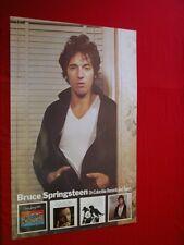 """Bruce Springsteen 1978 """"Darkness"""" Advertising Poster Vintage Very Good Condition"""