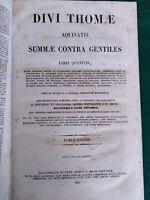 T.- D'AQUINO,SUMMA THEOLOGICA,4 VOLUMI,1863 1864-ESTERNO PESSIMO INTERNO BUONO