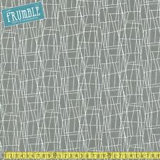 Michael Miller tessuto Atomico Pietra Web per metro geometrico linee retrò vintage S