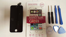 DISPLAY LCD APPLE IPHONE 5 NERO TOUCH SCREEN COVER FRAME VETRO SCHERMO AAA+