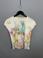 TED BAKER TOP - Size 0 UK6 - Floral - Great Condition - Women's