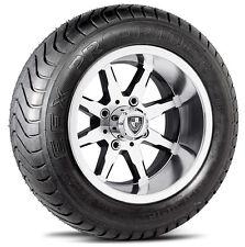 "Fairway Alloys 12"" Shift FA142M Golf Cart Car Rim Wheel EFX 215/50-12 Tires"