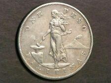 PHILIPPINES 1904S 1 Peso Silver Crown VF
