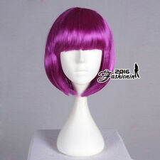 Anime Hair Hallowee Cosplay Full Party Wig 40CM Short BOBO Style Blue Straight