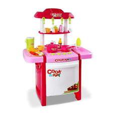 25piece Kids Play Set Children Mini Kitchen Pretend Little Chef Cooking Toy Pink