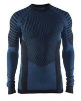 Funktionsshirt CRAFT Intensity, Herren, Kompression, Langarm, schwarz blau