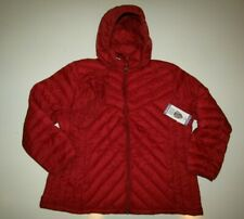 LONDON FOG Womens Red Down Coat Jacket Size 2XL Packable NWT Womens