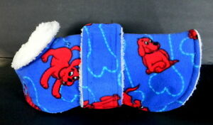 Handmade Outdoor Dog Sherpa Dog Coat Blue Red Dog Small Adjustable Straps