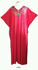Ladies  35% cotton 65% polyester embroidery Long Kaftan/dresses / beach UK 10-32