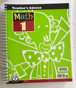 BJU Press Math 1 Teachers Edition With CD Third Edition 1st Grade