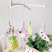 Flamingo Pineapple Felt Baby Cot Rotating Rattle Mobile Bed Bell Toy Shower Gift