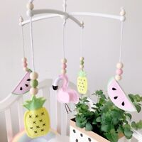 Felt Pineapple Watermelon Hanging Crib Mobile Rotating Rattle Baby Bed Bell Toys