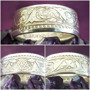 Silver One Rupee  Coin Ring Size Y