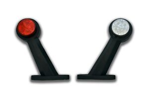 2 x 24V 8 LED SIDE RUBBER MARKER LIGHTS POSITION LAMPS TRUCK LORRY CHASSIS WAGON