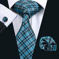 SN-994 Mens Silk Jacquard Woven Neckties Tie+Hanky+Cufflinks Sets Free P&P