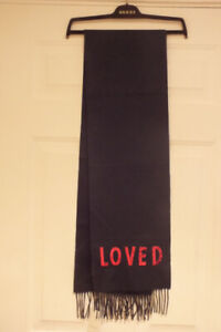 NWT AUTH GUCCI SCARF Cashmere / silk Midnight Blue Sequined LOVED unisex