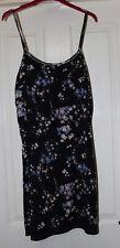 Dorothy Perkins Black Floral Slip Dress Size 14