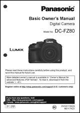 Panasonic Lumix DC-FZ80 Basic Camera User Guide Instruction Manual