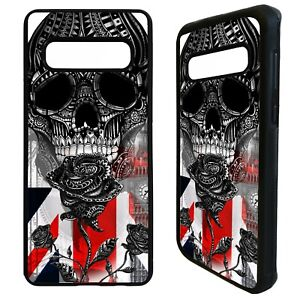 British tattoo sleeve UK rose skull case cover for Samsung Galaxy S10 S10e plus