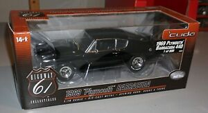 1969 Plymouth Barracuda 440 1 of 600 Highway 61 1/18 Diecast New In Box