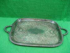 Vintage EPC Rectangular Silver Plated Serving Platter Tray Model 5-256 C