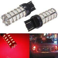 2x T20 7440 7443 68 LED 3528-SMD Red Brake Tail Turn Sinal Stop Light Lamp Bulb