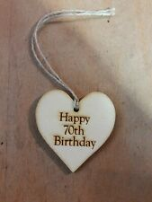 Handmade Wooden Gift Tags - 70th Birthday