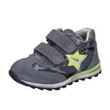 Jungen schuhe ENRICO COVERI 23 EU sneakers grau wildleder textil BR256-23