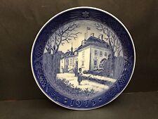 Copenhagen Blue Plate 1975 The Queen's Christmas Residance