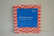 Swantex Paper Straws Red and White Striped x250