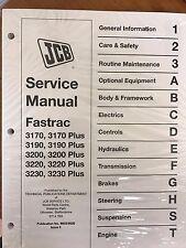 JCB Fastrac 3170, 3190, 3200, 3220, 3230, & Plus Models Service Manual