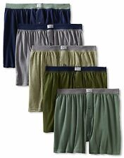 Fruit of the Loom Men's 5-Pack Soft Stretch Knit Boxer - Colors May Vary Medium