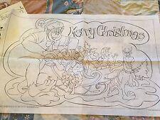 Vintage 1976 HANNA BARBERA Merry Christmas TRI CHEM Liquid Embroidery Kit 9805