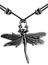 DRAGONFLY Oberon Design PEWTER NECKLACE jewelry pendant insect made in usa PNN17