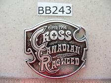 BB243 Wholesale Lot 60 Stylish New Circa 1994 Cross Canadian Ragweed Belt Buckle