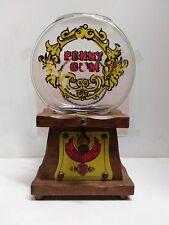 Vintage KNOCK ON WOOD Bubble Gum GUM BALL MACHINE Wood/Glass