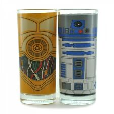 GLASSES SET OF 2 STAR WARS R2D2 AND C3PO NEW AND BOXED OFFICIAL ORIGINALMTALL