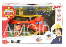 Fireman Sam Wallaby Large Mountain Rescue Helicopter Vehicle New