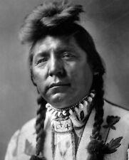 8x10 Print Native Americans Fish Robe Wolf Traditional Clothing 1895 #NA93