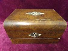 Boxes Walnut Antique Wooden Writing Slopes