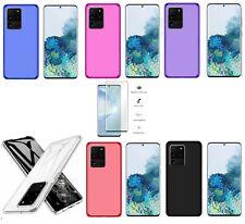 Funda Samsung Galaxy S20 Ultra TPU GEL SILICONA + PROTECTOR COMPLETO 3D