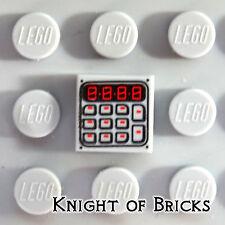 Lego MINIFIGURE 1x1 LIGHT GRAY Keypad Calculator Computer Pattern