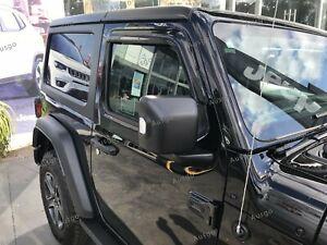AUS Luxury Weather Shields Weathershields for Jeep Wrangler JL 2D 2018+ #T