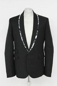 ALEXANDER MCQUEEN Black Single Breasted One Button Shawl Lapel Blazer UK40 BNWT